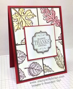 Falling Leaves, Tags 4 You, Stampin' Up!, Brian King