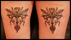 vinw garter tattoos | Art Nouveau Tattoo on back of Thighs http://stateofgrace.de/tattoo ...