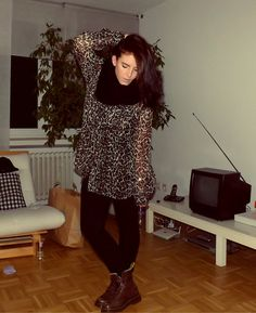 Leopard print & Docs (by Amy M) http://lookbook.nu/look/4090784-Leopard-print-Docs