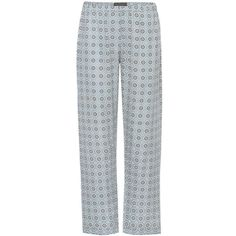 Burberry Printed Pyjama Trousers (5.629.525 IDR) ❤ liked on Polyvore featuring pants, burberry, multicoloured, burberry trousers, burberry pants, colorful pants, blue pants and multi color pants