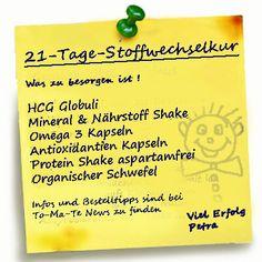 Einkaufsliste für die 21 Tage Stoffwechselkur mit Vitalstoffen - To-Ma-Te News