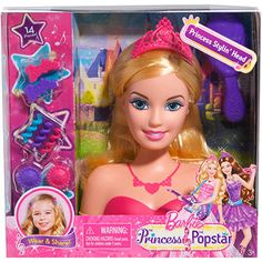 Barbie Princess and the Popstar Styling Head