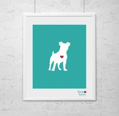 Dog Silhouette - Jack Russell Art on Etsy