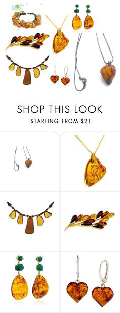 """""""Stunning Amber!"""" by monika-rhodes on Polyvore featuring Be-Jewelled"""