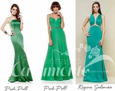 Madrinhas de casamento: Vestido de festa verde: madrinhas e formandas