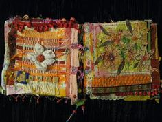 Absolutely love this artist's fabric books, etc! Lots of photos to inspire! Bohemiannie.