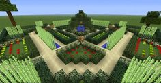 View map now! The Minecraft Map, French garden was posted by Pyro_sylver. Minecraft Garden, Minecraft Farm, Minecraft Cottage, Easy Minecraft Houses, Minecraft Construction, Cool Minecraft, Minecraft Creations, Minecraft Projects, Minecraft Designs