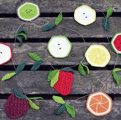 Ganchitos — Patrón Guirnalda de Frutas