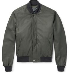 Leather Bomber Jacket with Detachable Shell Gilet   MR PORTER