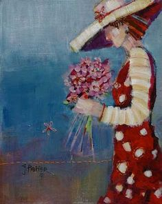 She Liked Her Flowers Pink by Genevieve Pfeiffer