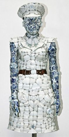 Porcelain clothes by Chinese artist Li Xiaofeng
