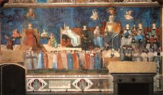 One of the most interesting fresco cycles of the late Middle Ages was painted in the Town Hall of city of Siena. It stands out with its theme representing good and bad city government. Medieval Art, Renaissance Art, Fresco, Infinite Art, Google Art Project, Web Gallery, Italian Artist, 14th Century, African Art