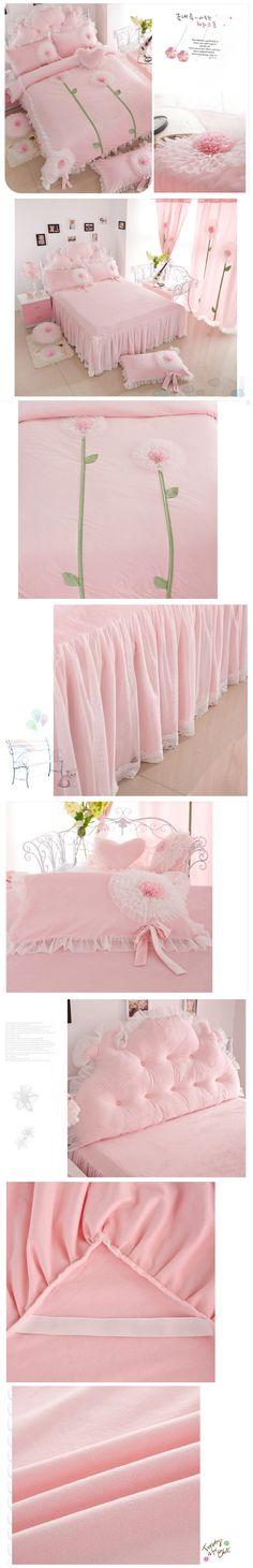 Korean Pink Princess Bedding Set Twin Queen Size Kids Girls Lace Ruffle Duvet Cover Sets Velvet Comforter Sets