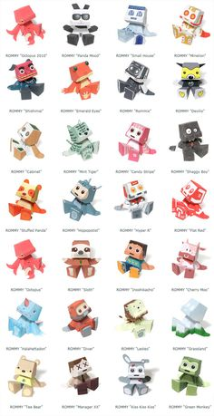 rommy 30 models of paper toy Rommy