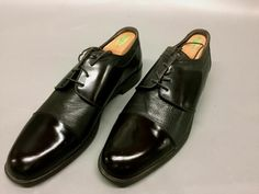 8ef432cb2fd SAN REMO MENS ITALIAN DRESS SHOES~OXFORDS~SIZE 13M~BLACK CAP TOE GOOD
