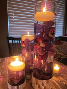 orchids in vases with water