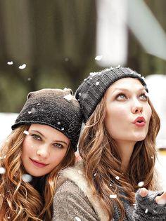 Behati Prinsloo + Karlie Kloss + snow = winter wonderland!
