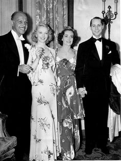 Joan Crawford and husband, Franchot Tone...