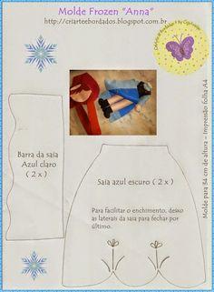 Moldes Frozen - Costurando Sonhos