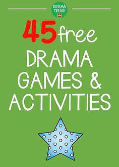 Drama Games For Kids, Drama Activities, Act For Kids, Improv Games For Kids, Kids Games To Play, Family Activities, Theatre Games, Teaching Theatre, Drama Theatre