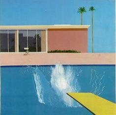 """david hockney obras pop art """"A Bigger Splash""""."""