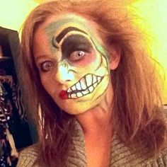 Halloween look - two faced