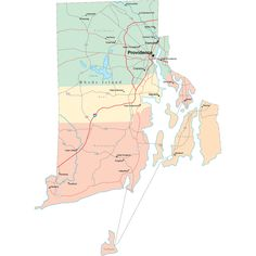 Scalable online Rhode Island road map and regional printable road maps of Rhode Island. Highway Map, Island Map, State Map, Rhodes, Rhode Island, Maps, Bucket, Poster, Blue Prints