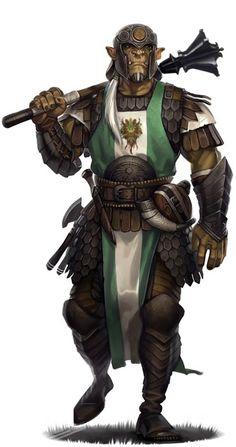 Half-Orc Cleric of Obad-Hai