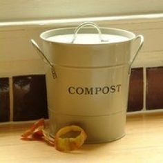 finally an attractive solution as to where to keep your kitchen waste before you compost when you lift off the lid on our compost bucket