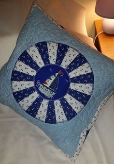 Childrens sailing theme cushion by Quiltingadream on Etsy