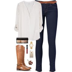 Love love this preppy combination. Now I need those boots