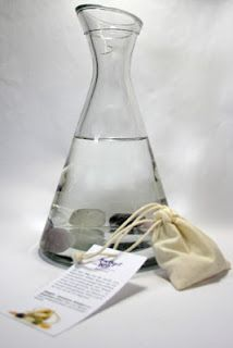 To make a GEM ELIXIR place cleansed gems - raw or tumbled - in a glass carafe and pour in spring or purified water. Cover the carafe with a piece of gauze or cheese cloth an allow it to rest for a whole night. The elixir is ready by the morning and can be used internally or externally in sprays, compresses or lotions. It is sensible to make a small amount rather than to store large batches of elixirs as the healing effect diminishes with time.❤️☀️