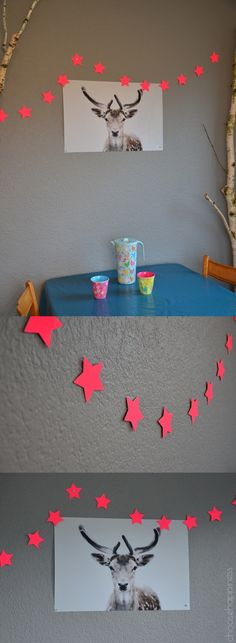 DIY Garland pink Stars
