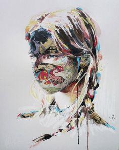 Sandra Chevrier's Mixed Media Art