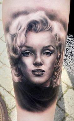 Marilyn Monroe - Tattoo Artist - Line Marielle Kloosterman -