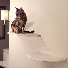The Refined Feline Cat Cloud Cat Shelves in Off-White, Left Facing: Pet Supplies Floating Cat Shelves, Cat Wall Shelves, Cool Cat Trees, Cool Cats, Cat And Cloud, Cat Tree Plans, Cat Wall Furniture, Cat Tree House, Tree Houses