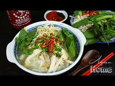 I'm finally sharing Chicken Pho, AKA Pho Ga recipe with you all! Thank you so much requesting and patiently waiting! :-D Chicken Pho is one of most popular Vietnamese noodle soup, Vietnamese Recipes, Asian Recipes, Ethnic Recipes, Vietnamese Noodle, Vietnamese Cuisine, Asian Foods, Chinese Recipes, Chicken Pho, How To Cook Chicken