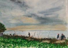 Watercolor painting of Laudermilk park, Naples, FL