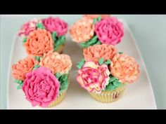 Carnation Buttercream Cupcakes - CAKE STYLE - YouTube