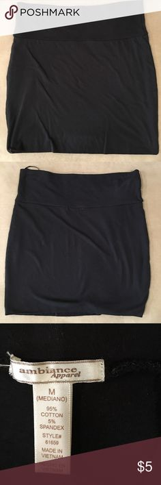 """Cute skirt Cute tight skirt with very soft material. On the corner of the skirts the hanger pinch is imprinted. The skirt is 16"""" long. Ambiance Skirts"""