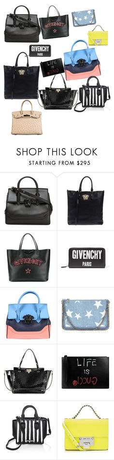 """""""Bags collection"""" by madjoy-i ❤ liked on Polyvore featuring Versace, Givenchy, STELLA McCARTNEY, Valentino, Gucci, Kendall + Kylie, Jimmy Choo and Hermès"""
