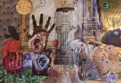 First two pages of poetry and collage in the Book of Legend-Ravens At My Window/Roses on My Wall  2012  Deborah K. Tash