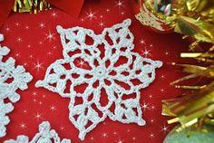 5 voľné háčkovanie snehové vločky vzory  Krásne háčkovanie