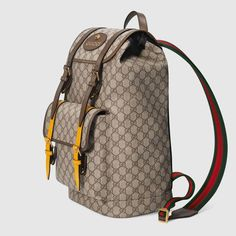 Gucci Soft GG Supreme backpack Detail 2  Guccihandbags Backpack Outfit 1a1bcef21bbd