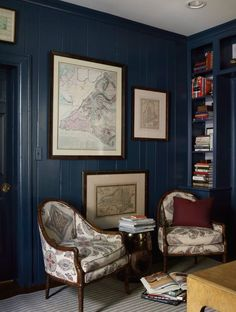 You got some nasty pine paneling? Paint it Hague Blue. You're welcome.