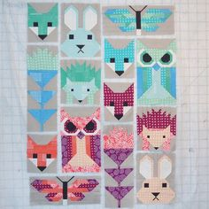 All the blocks are done! (The other set won't fit on my design wall - I'm making…