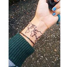 World map tattoo