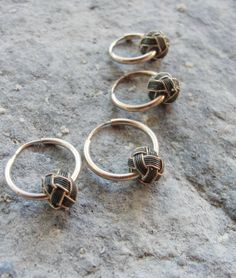 Little Hoop Earrings Sterling Silver Hand by StaroftheEast