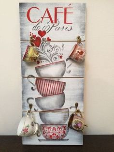 3 Kommentare Ich easy gifts tubes pringles Gepostet am . Decoupage Vintage, Vintage Diy, Pallet Painting, Pallet Art, Painting On Wood, Wood Projects, Craft Projects, Projects To Try, Wood Crafts