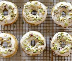 Joy the Baker Baked Brown Butter and Pistachio Doughnuts - Joy the Baker - Can be made in a muffin tin.